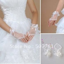 Free Shipping!2012  Short lace fingerless bridal gloves | wedding gloves | dress gloves,a variety of styles(China (Mainland))