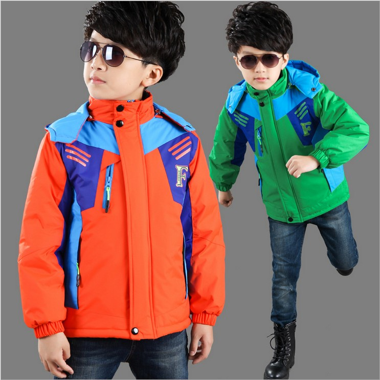 Children Outerwear Coat Sporty Kids Clothes  Waterproof Windproof Thickened Boys Jackets For 7-14-15T 3 Colors Winter Autumn<br><br>Aliexpress