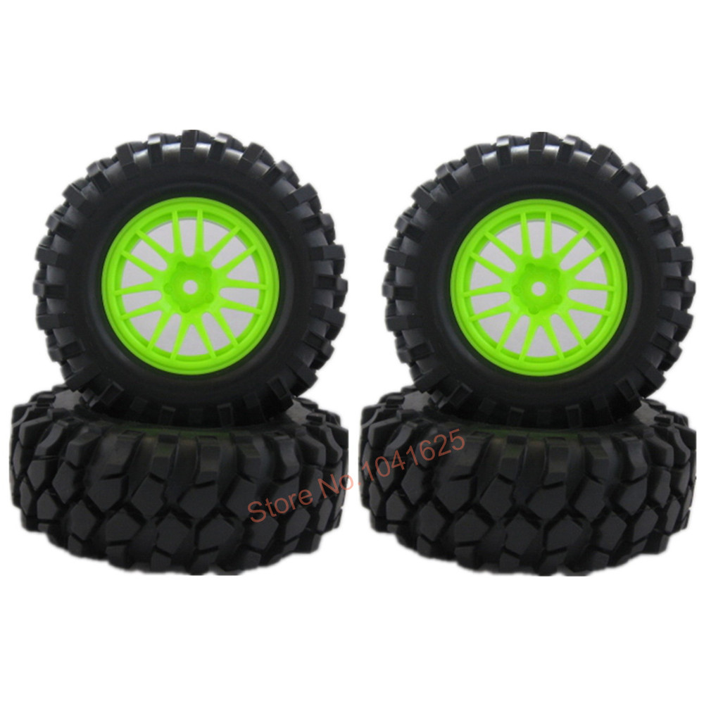 1.9 inch RC Crawler Tires Wheels For 1:10th RC Crawler Rock Racer Car Pack of 4(China (Mainland))