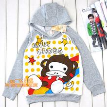 Free shipping Humengang sweatshirt long-sleeve 100% cotton long-sleeve pullover(China (Mainland))