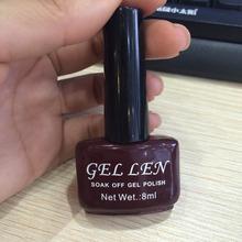 Nail Art Gel Len Nail Lacquer Soak off uv led gel color Nail Polish Long Lasting