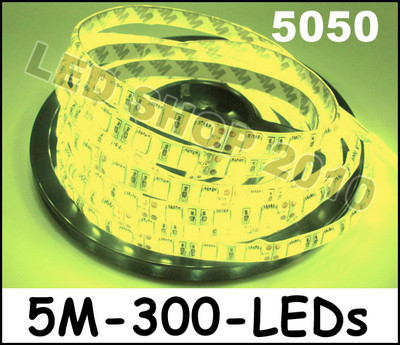 2 X 5M 12V Warm White 5050 SMD LED Waterproof Flexible Strip 300 LEDs free shipping<br><br>Aliexpress