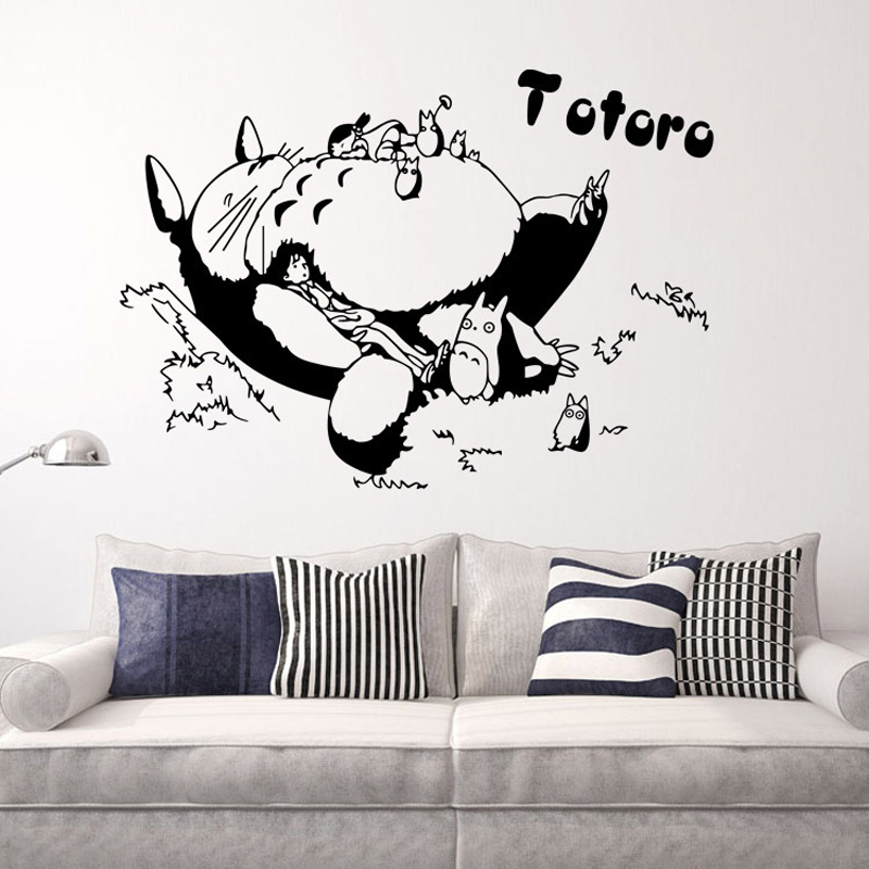 totoro wall stickers for kids rooms home decoration wall decal