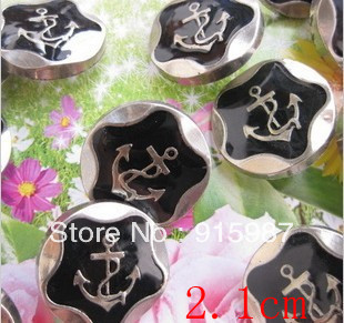 Free shipping 100pcs/lot 2.1cm Bowknot ornaments headdress dress shoe buckle DIY accessories buttons by the anchor(China (Mainland))