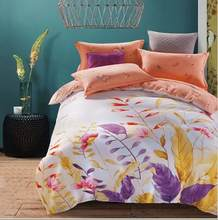 Free Shipping Modern Style 100% Cotton Duvet Cover Set Bed Sheet Pillow Case King Size Super Soft Bedding Sets XKE010(China)