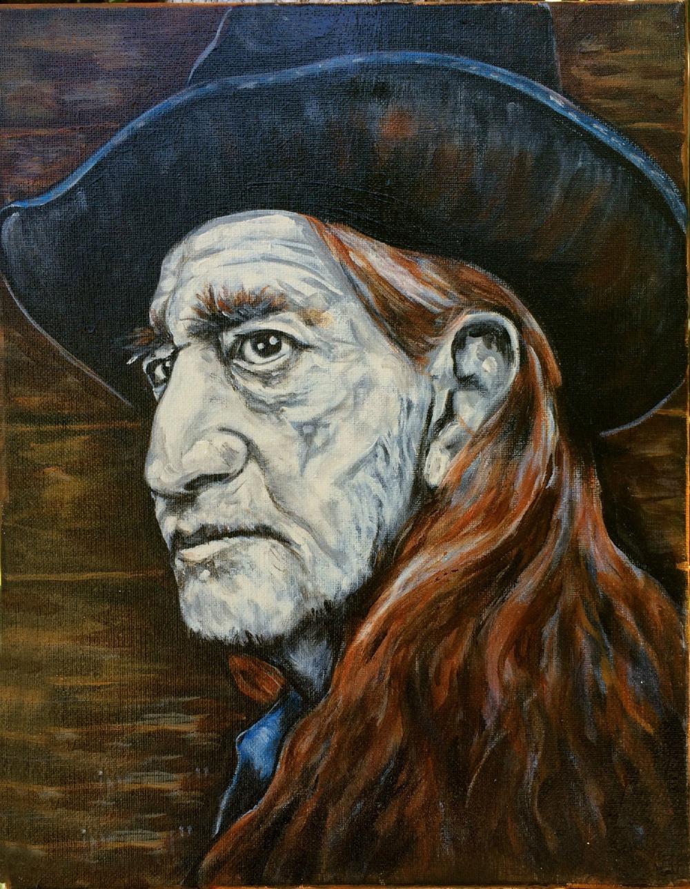 POP art oil painting-Willie Nelson Texas Mojo Blues original Guitar Folk Art --100% hand painted 24x20 inch-free shipping(China (Mainland))