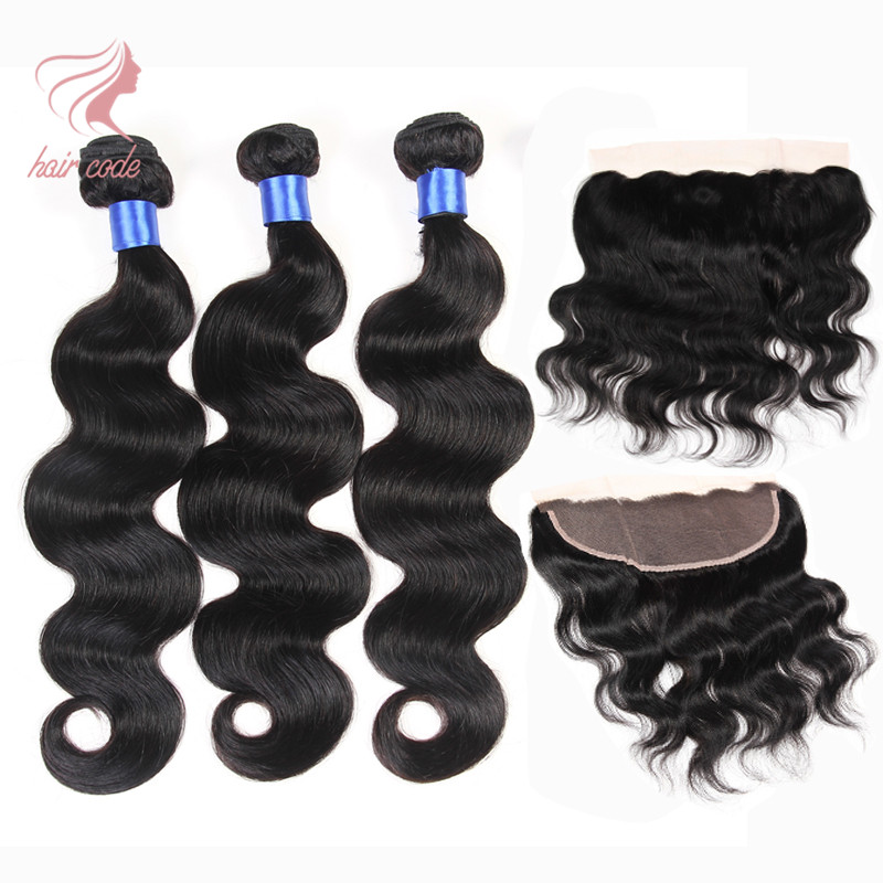 Brazilian Virgin Hair Body Wave With Frontal Closure Bundle 8a Grade Virgin Unprocessed Human Hair With Closure Ali Moda Hair<br><br>Aliexpress