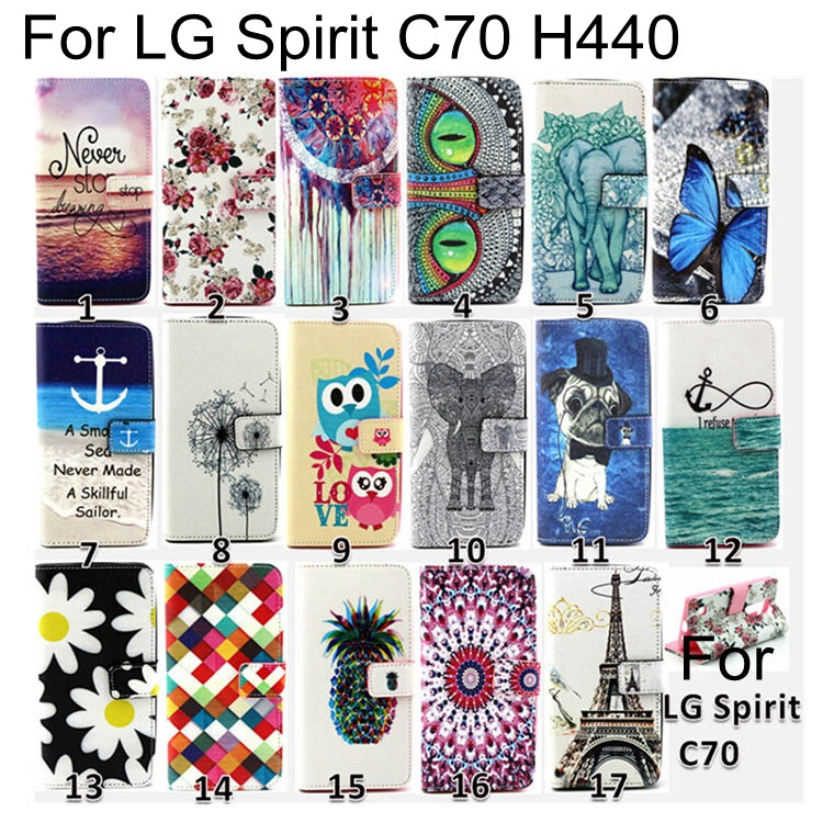 Leather Phone Case Cover LG Spirit 4G LTE H420 H422 H440N H440Y Original Flip Wallet Bags Card Holder Stand - Danny Digital Accessories store