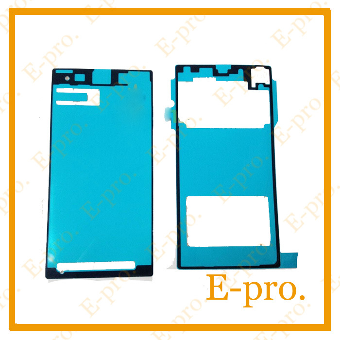 Faceplate Sticker+Battery Back Cover Sticker Adhesive Waterproof Tape Sony Xperia Z1 L39H C6903 2pcs/Set - E-Pro Electronic Co., LTD store