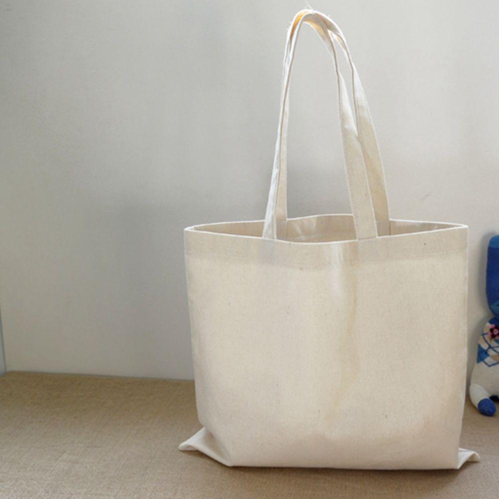 12oz Cotton Natural Eco Bags Ladies Shopping Blank Canvas Women's Tote Bag Shoulder Handbags Plain Travel Solid Reusable Lady(China (Mainland))