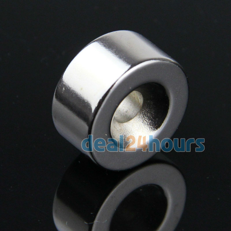 10 x Strong Countersunk Ring Magnets 20mm x 10mm Hole 5mm Rare Earth Neo Neodymium <br><br>Aliexpress