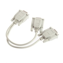 1 PC to 2 Monitor Dual Video Way VGA SVGA Graphic LCD TFT Y Splitter Cable Lead !