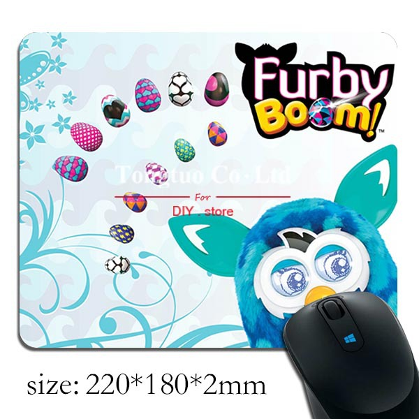 1pcs Nice Cute Cartoon Furby With A girl And A Snowman pattern Customized Skid Rectangle Mousepad(China (Mainland))