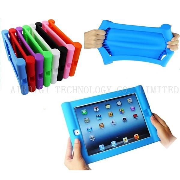 Shockproof Protective Case For Apple iPad 2/3/4 Silicone Drop Proof Case Cover For Home Childred Kids with Free Shipping(China (Mainland))