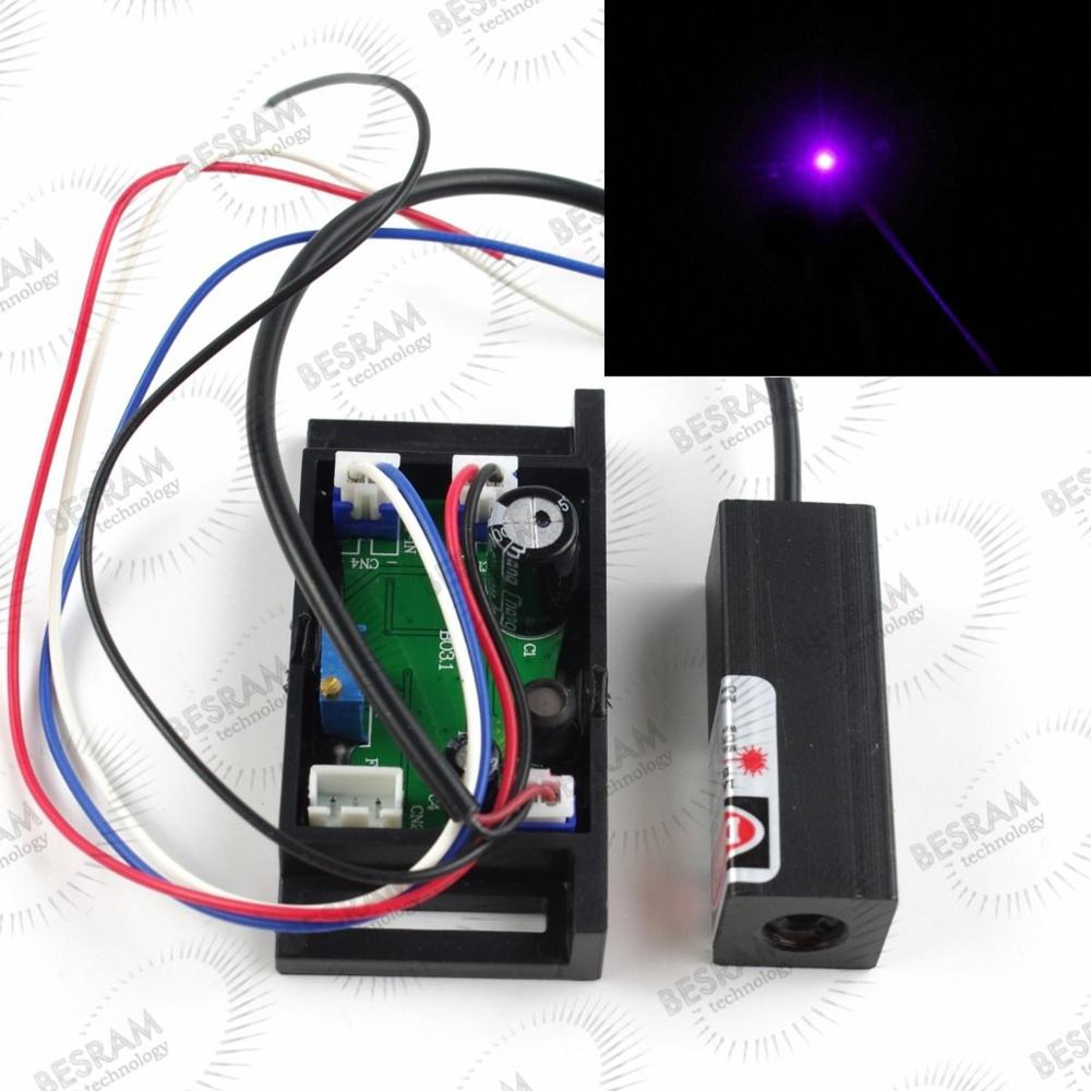 1pc Stage Lighting Show 50mW Blue/Violet 405nm Laser Diode Module with TTL(China (Mainland))