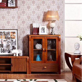 Free Shipping Punctuated new chinese style small wine cooler modern brief cabinets glass cabinet accessories cabinet solid wood