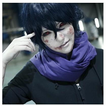 Free Shipping! Newest! Tokyo Ghoul Kirishima Ayato Blue Mix Black Cosplay Wig Cos Wig Spot!<br><br>Aliexpress