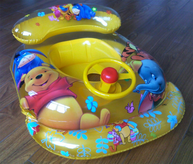 Free Shipping Children Baby Inflatable Swimming Laps Swimming Ring Pooh Princess Car Thomas(China (Mainland))