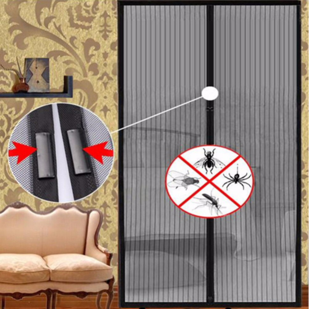 Thermomagnetic Anti-mosquito Curtain Home Mesh Hands-Free Screen Net Magnetic Anti Mosquito Bug Door Curtain
