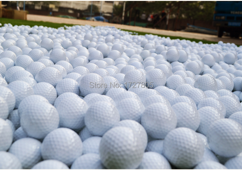5pcs/lot outdoor sporting tool Golf Balls Fashional sporting program Soft Indoor Practice PU Yellow/white Golf Balls Training(China (Mainland))