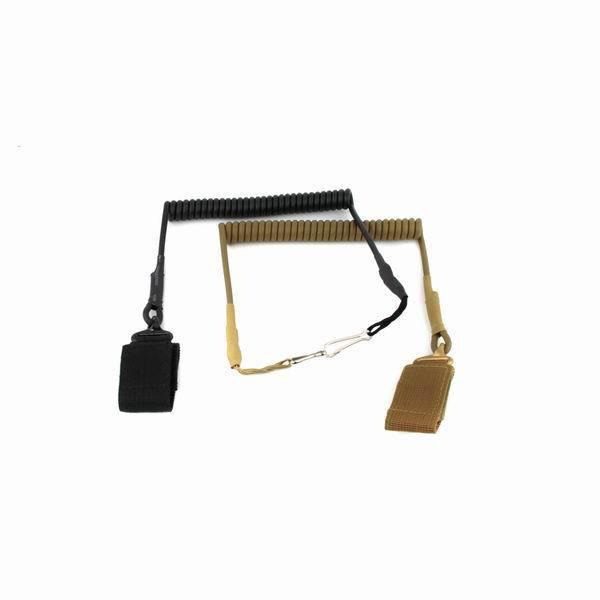 Adjustable Tactical Pistol Hand Gun Secure Spring Lanyard Sling w/Belt Velcro Outdoor Combat Gear - E-Buying Store store