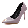 Shoes Woman Black Pink Color Dress Women Pumps Basic 8cm Stiletto High Heeled Pointed Toe Spring