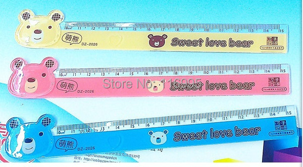 Free shipping 15pcs Stationery bear ruler 15cm ruler<br><br>Aliexpress