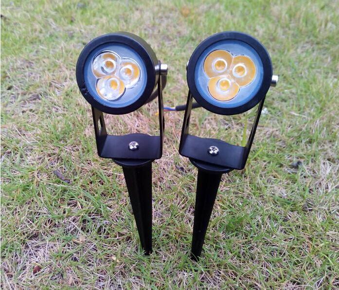High Power 3*3W 9W LED Lawn Lamp Outdoor Garden Spot Lighting Bulbs Waterproof IP65 Warm/Natura/Cool white 85-265V 12V(China (Mainland))