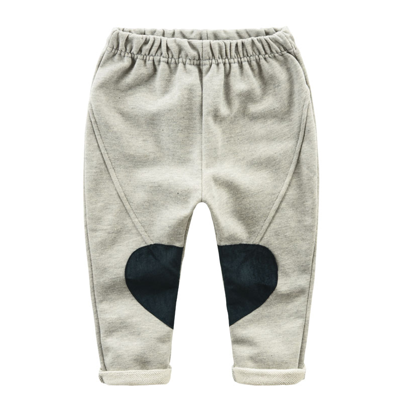 Knee patch baby pants 2016 new children's spring rubber belt trousers boy pants aTSK0049(China (Mainland))