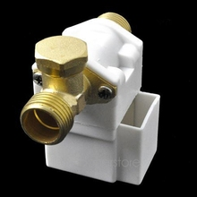 "hot selling stainless steel material Electric Solenoid Valve For Water Air N/C 12V DC 1/2"" Normally Closed zx*DA0916#s8(China (Mainland))"