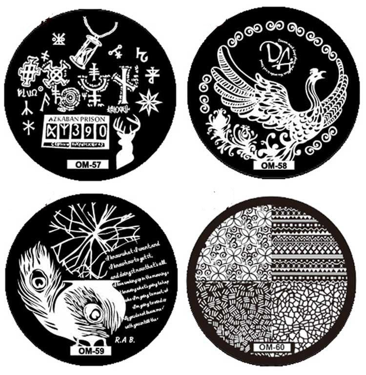 Free Shipping 2015 New Hot Women Girl Pattern DIY Nail Art Image Stamp Stamping Plates Manicure Template OM60 Alipower(China (Mainland))