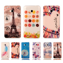 Colorful Crystal Phone Case For Microsoft Nokia Lumia 640 RM1109 Printing Transparent Gel Plastic Protective Cover