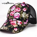 Print Felower Women Snapback Caps Hats Mesh Baseball Caps For Women Nylon Fastener Tape Canvas Adult