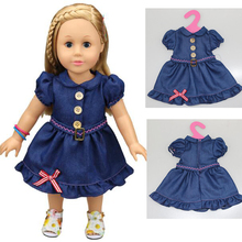 """1pieces American girl doll clothes and doll jeandress for 18"""" american girl doll alexander doll skirt(China (Mainland))"""