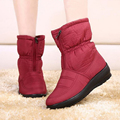 2015 new autumn winter casual snow boots waterproof women boots thermal flat slip resistant fashion winter