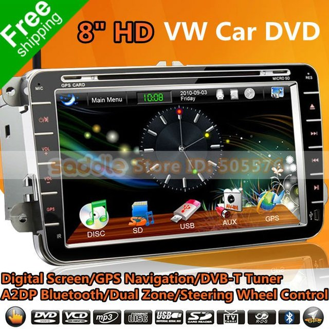 """VW Car DVD , 8"""" HD Car DVD Player for VW & Skoda with GPS + CanBus + Analog TV + A2DP Bluetooth + Dual Zone + RDS + Wifi + 3G!"""