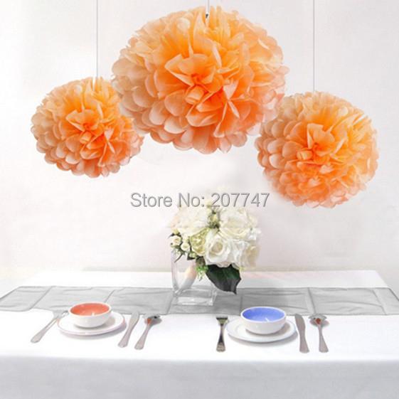 Peach Color Tissue Paper Pom Poms Pompoms Paper Flower Balls Wedding