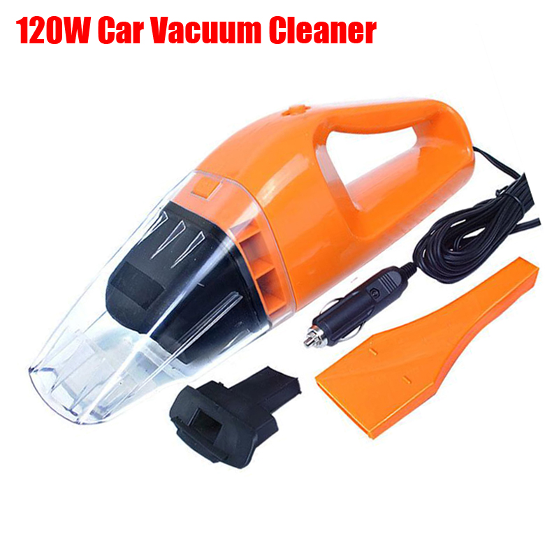 Portable car vacuum cleaner Wet And Dry Dual USE 120W 12V With 5M Cable Super Absorb Car Waste(China (Mainland))