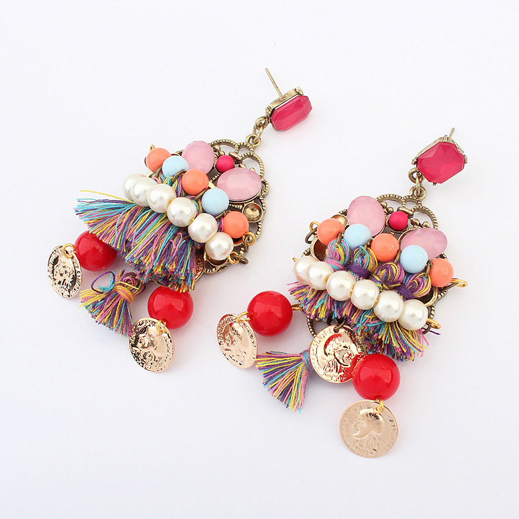 Buy Hot European American Fashion Personality Bohemian Style Colorful Earrings Amelie Shop