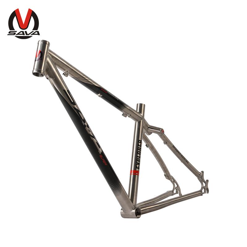 SAVA Bicycle Parts 26*17''/26*16''/27.5*16'' MTB Mountain Bike Ulralight 1.3KG Frame Titanium Bicycle Frame quadro de bicicleta(China (Mainland))