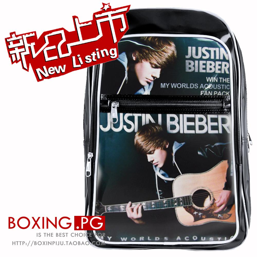 2015 Worlds Justin Bieber school student shoulders' Bag travel sport bookbag men Knapsack