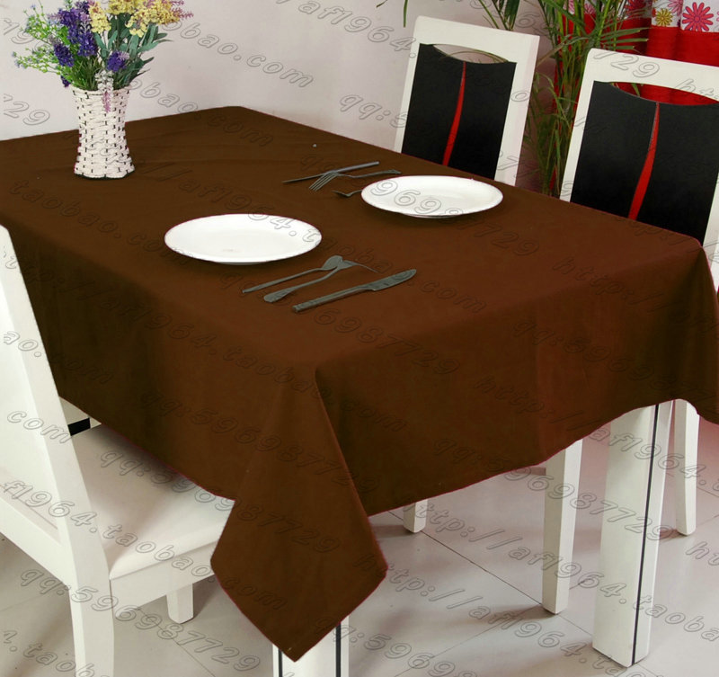 Square Table cover,rectangle table cloth,plain polyester,for wedding,hotel and restaurant table decoration,200GSM thick fabric(China (Mainland))