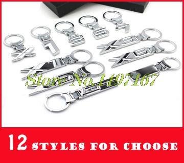 10pcs Metal Auto Logo Car Keychain For BMW Mini 1 3 5 6 7 8 seriesX