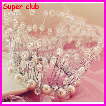 Cute Mini Round Pearl Kids Hair Tiara Children Birthday Crown Princess Designs Wedding Hair Crown Tiaras(China (Mainland))
