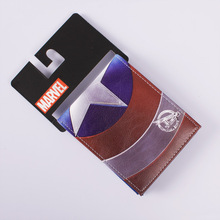 Comics DC Marvel Wallet Captain America Card Bags Famous Amine Cartoon Purse Leather Male Casual Branded Wallets