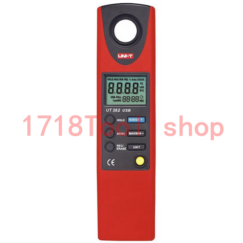 High quality UNI T UT382Split Light Luxmeter Meters 20 20000 Lux Lumen Digital Illuminometer USB Transfer