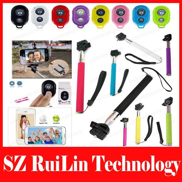 Штатив Monopod Stick Pole Bluetooth Selfie + Monopod Stick Pole 3.5mm cable цена и фото