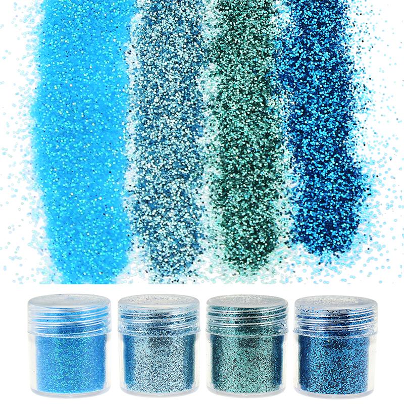 4Bottle/Set Glitter of Gems 1Box 10g Sequins Acrylic Powder For Nail Glitter Sheets Nail Art Tips BG041-044