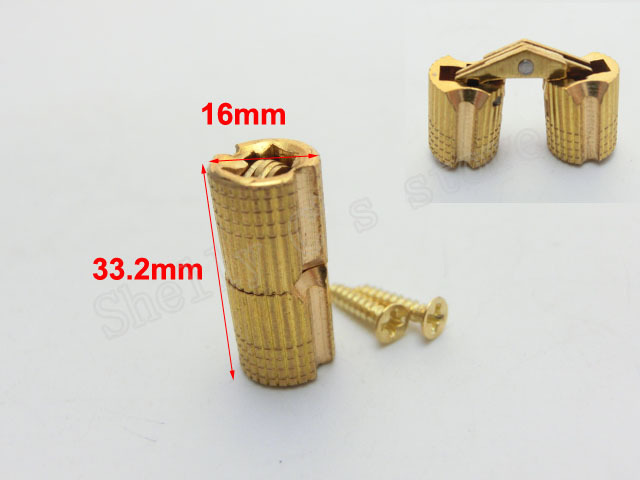 Furniture Silver Tone Metal 33.2mm Length Cross Hinge for Folding Sliding Door(China (Mainland))