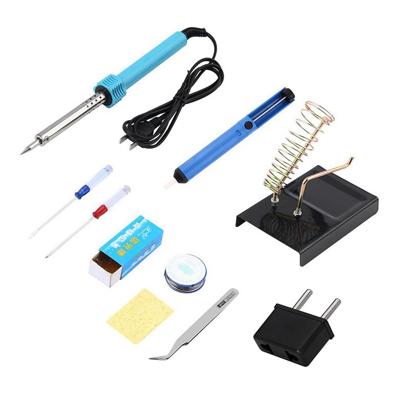 diy 40w 220v electric welding solder soldering iron station starter tools kit set with iron. Black Bedroom Furniture Sets. Home Design Ideas
